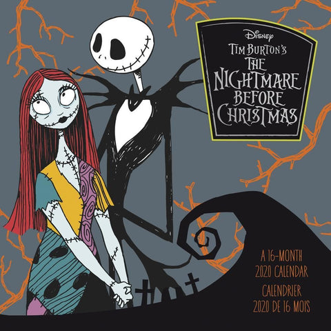 Nightmare Before Christmas 2020 Wall Calendar Front Cover