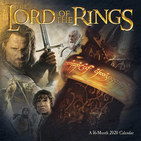 Lord of the Rings 2020 Wall Calendar Front Cover