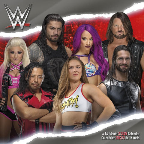 WWE 2020 Wall Calendar Front Cover