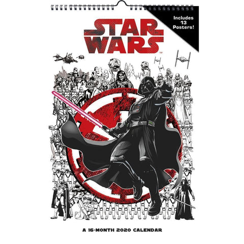 Star Wars 2020 Poster Calendar Front Cover