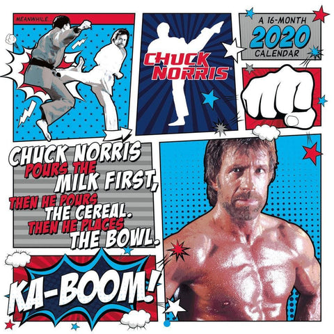 Chuck Norris CC Cover 2020 Wall Calendar Front Cover