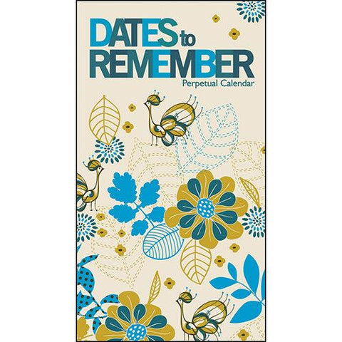 Dates to Remember - Blue and Yellow