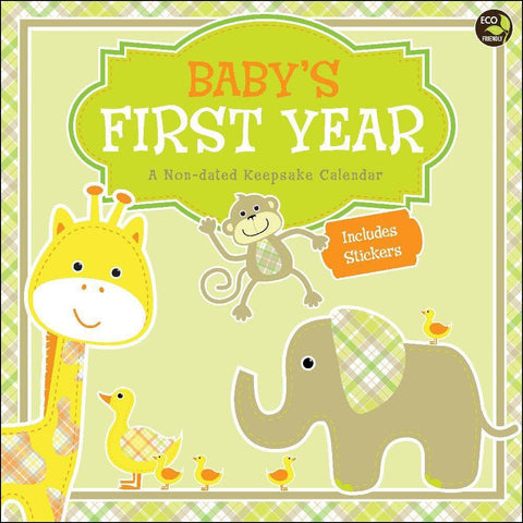 Baby's First Year Non Dated Wall Calendar
