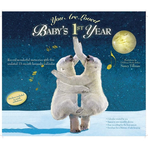 Nancy Tillman Babys First Year 2017 Wall Calendar - Calendar Club of Canada - 1