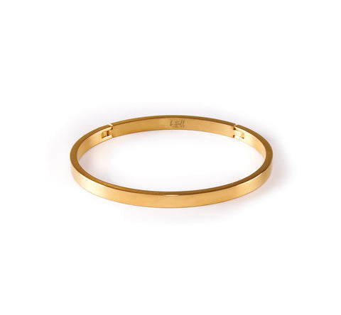 BG300G B.Tiff Matte Finished Gold Plated Bangle Bracelet
