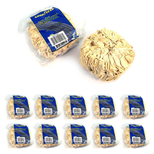 10 Pc Good Year Super Dry Natural Drying Chamois Ball Window Cleaning Defogging