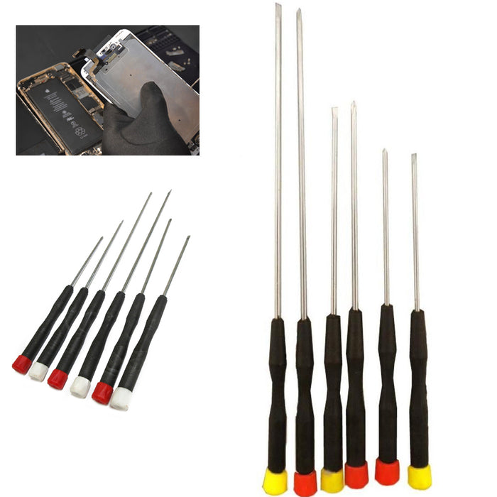 6PCS Precision Slotted & Phillips Screwdriver Set Electronic Micro Hobby Jewelry