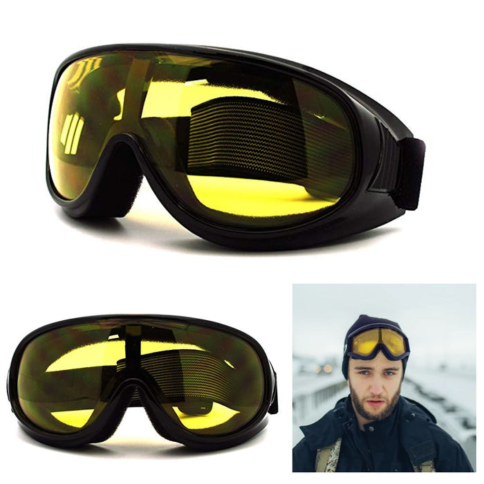 1 Ski Goggles Anti Fog Lenses 400 UV Protection Men Women Skiing Snow Motorcycle
