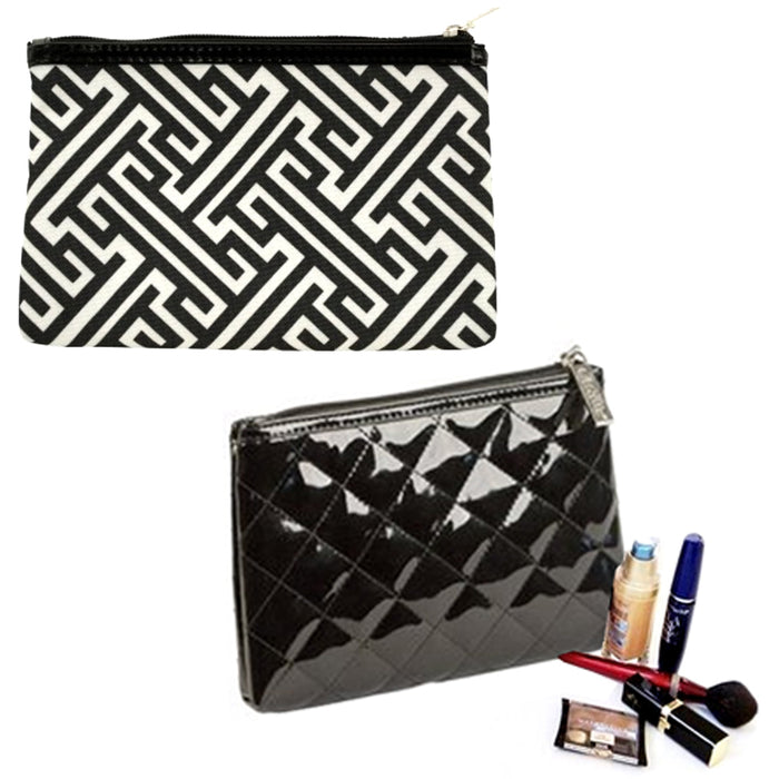 1 X Cosmetic Clutch Pouch Purse Wallet Make Up Toiletry Travel Bag Case Compact
