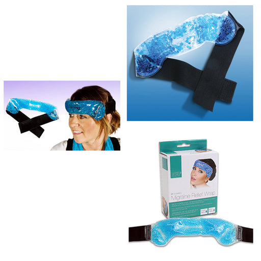 1 Migraine Relief Wrap Headache Pain Hot Cold Therapy Head Stress Tension Heat !