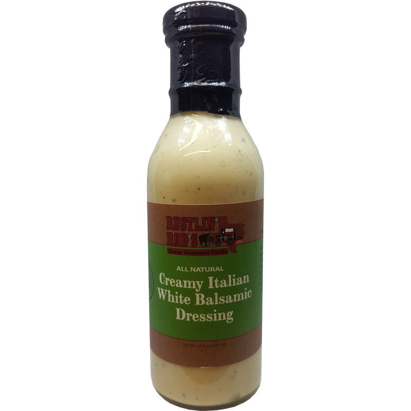 Creamy Italian White Balsamic Dressing by Rustlin' Rob's 12oz
