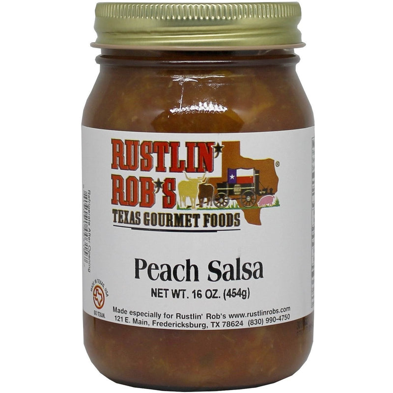 Peach Salsa 16oz. by Rustlin' Rob's