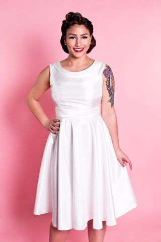 Weddings - Suzette Dress - Shantung Ivory - Heart of Haute