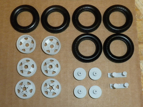 W37 1/25 Ford BB Wheel & Tire Set