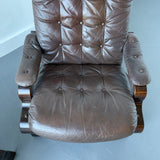 Pair of Mid Century Modern Westnofa Recliners with Original Leather