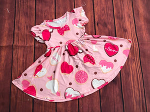 VALENTINE COOKIES TWIRL DRESS