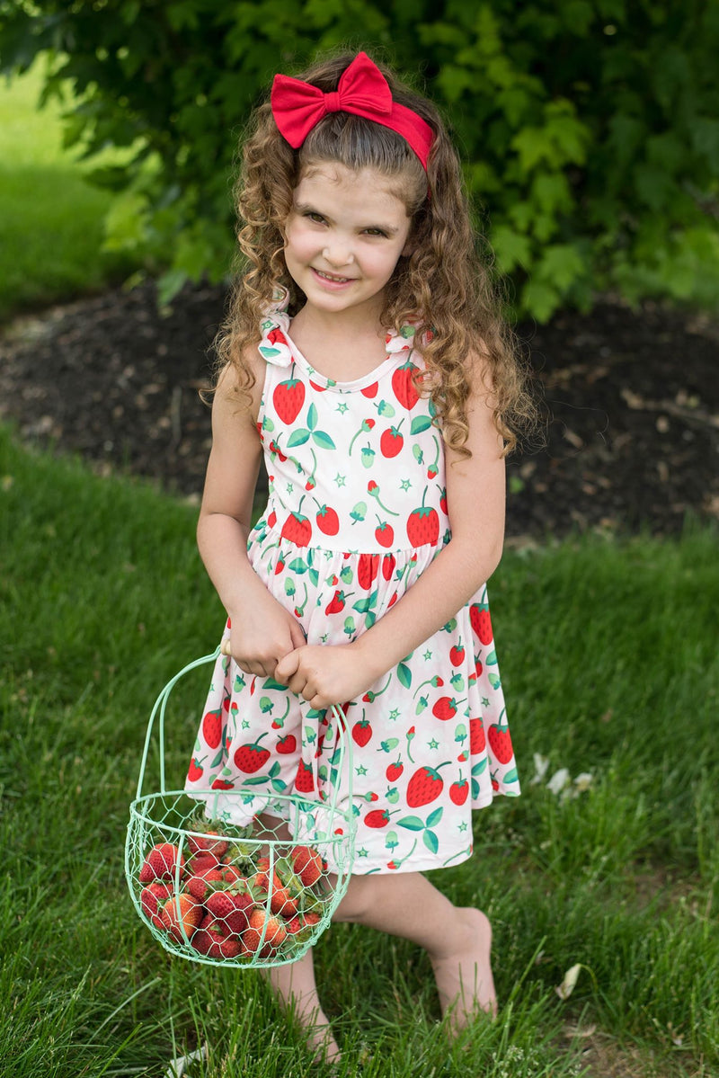 STRAWBERRY BOW TANK DRESS  M1