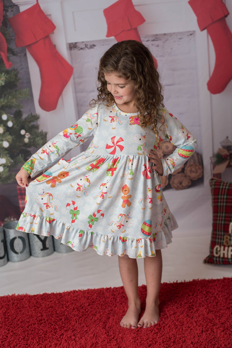 GINGERBREAD MAN & UNICORN MIA DRESS
