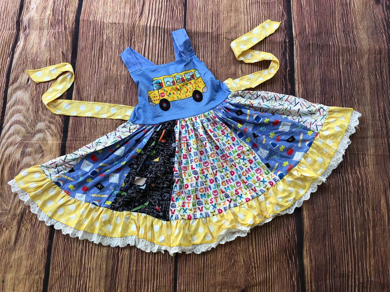 SCHOOL BUS TWIRL DRESS