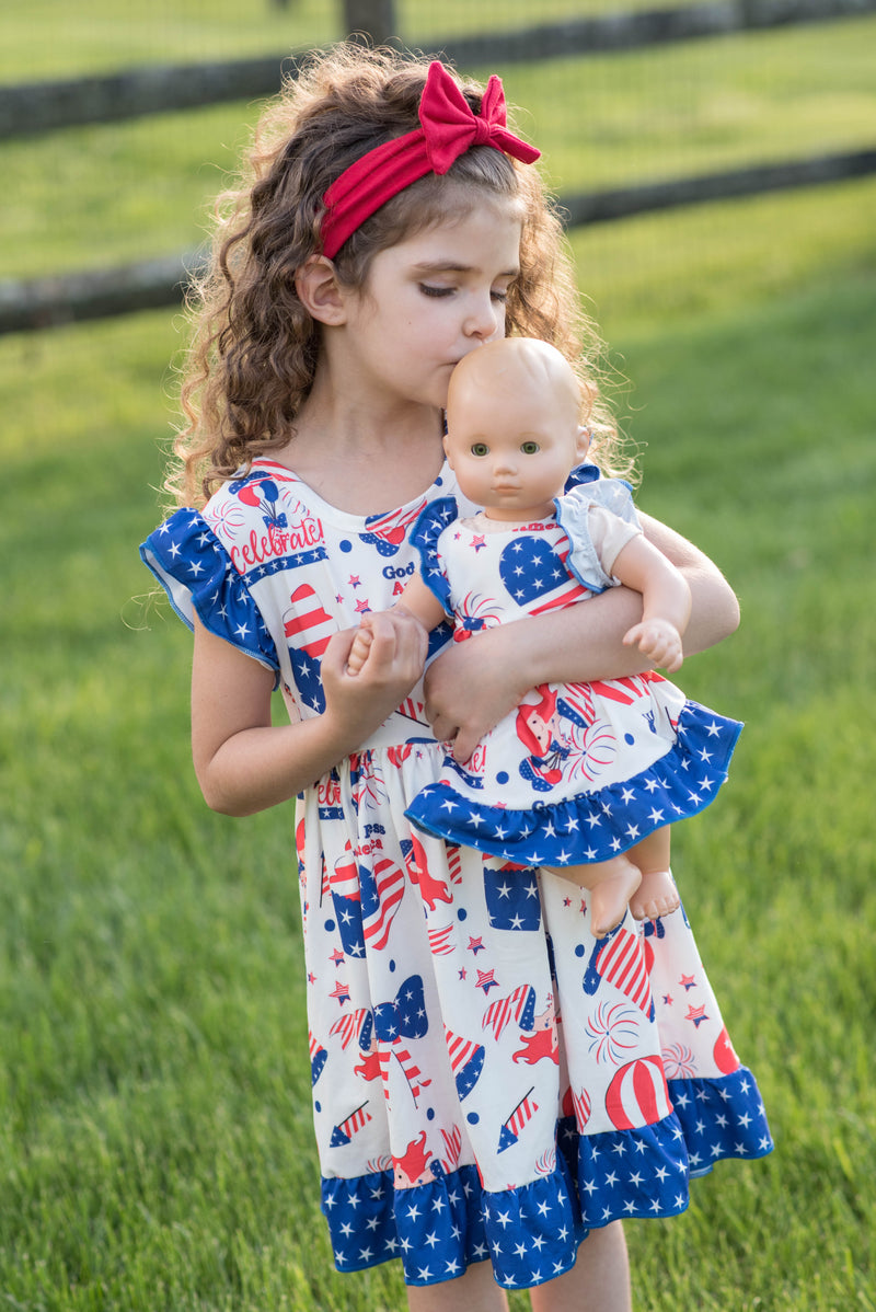 PATRIOTIC HEART AND MERMAID DRESS