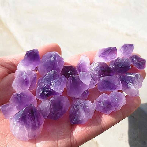 Natural Amethyst Quartz Point Crystal Cluster 100g