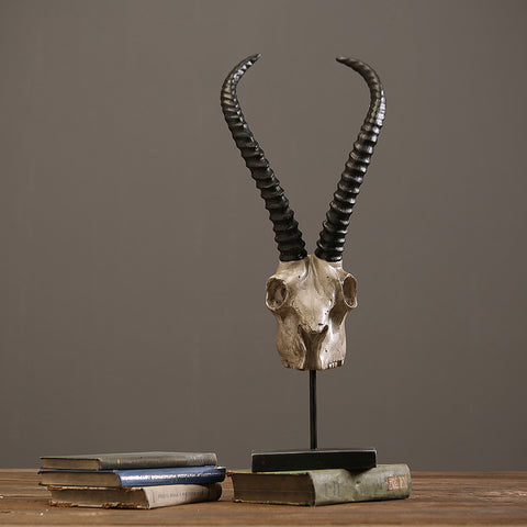 Rustic Antelope Skull home furnishing decor creative resin handicraft