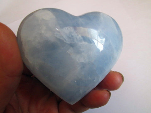 220g PRETTY CELESTITE QUARTZ CRYSTAL HEART HEALING