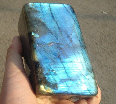 880G Gorgeous Natural Labradorite gemstone Crystal Polished