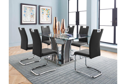 Belize 7PC Dining Set - Grey/Chrome