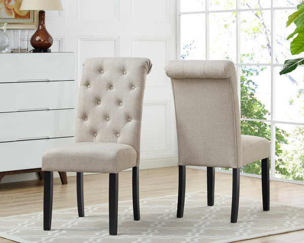 Candace & Basil Furniture |  Tinga Dining Chairs (Set of 2) - Beige Linen