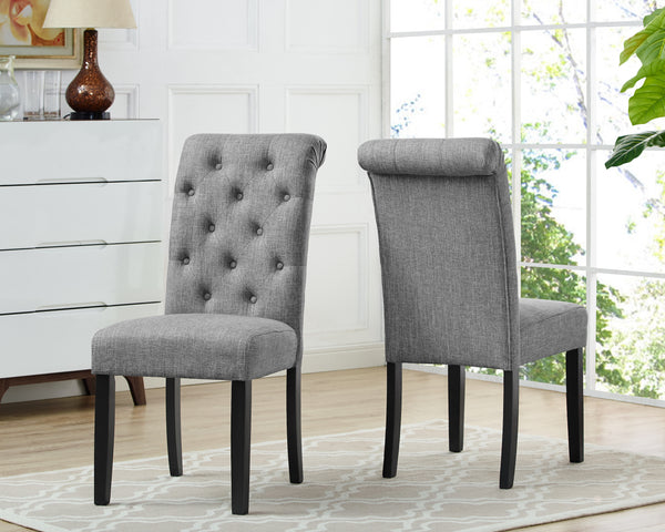Candace & Basil Furniture |  Tinga Dining Chairs (Set of 2) - Grey