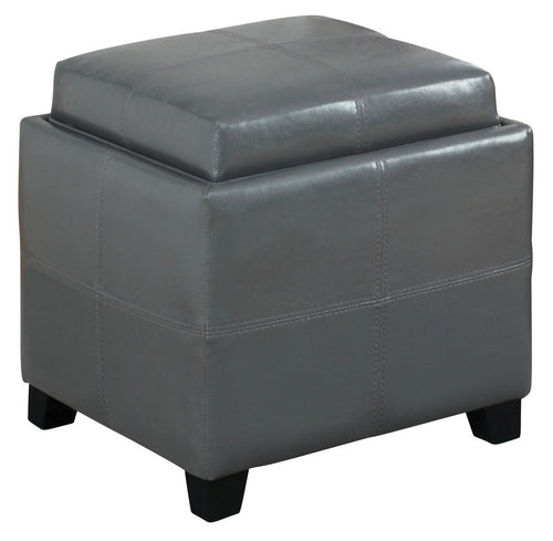 Candace & Basil Furniture |  Storage Ottoman - Grey