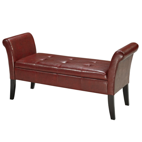 Candace & Basil Furniture |  Arizona Storage Bench (Red)