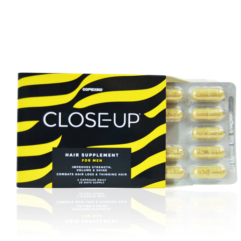 CLOSE-UP HAIR SUPPLEMENT - MALE <br> 27 active ingredients promote hair growth, volume, strength and shine, and combat hair loss, 4 weeks' supply