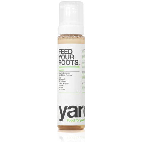 FEED YOUR ROOTS <br> Mousse. Transforms thin, damaged or lifeless hair into voluminous, healthy hair <br> [ 2 sizes ]