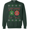 Image of Flight Nurses Got Balls Ugly Sweater Gildan Crewneck Pullover Sweatshirt  8 oz.