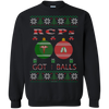 Image of RCPs Got Balls Ugly Sweater Gildan Crewneck Pullover Sweatshirt  8 oz.