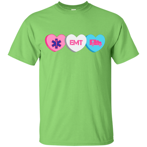 EMT Candy Hearts Gildan Unisex Ultra Cotton T-Shirt