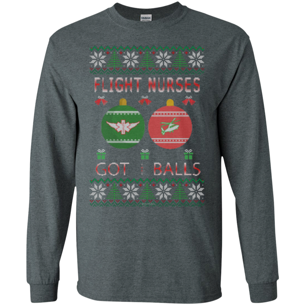 Flight Nurses Got Balls Ugly Sweater Gildan Unisex LS Ultra Cotton T-Shirt
