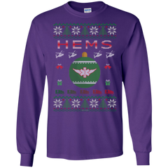HEMS Ugly Sweater Gildan Unisex LS Ultra Cotton T-Shirt