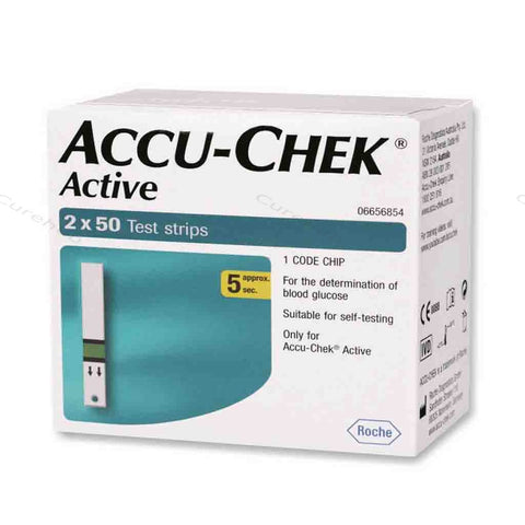 Accu Chek Active 100 Strips  ( Expiry June 2019)