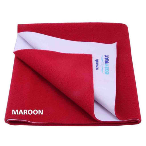 Cozymat - Soft, Waterproof And Reusable Fabric (Size: 200cm X 260cm) Maroon, Db