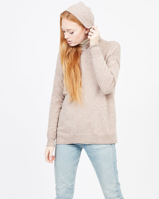 Oatmeal Sweater Sweatshirt with pockets