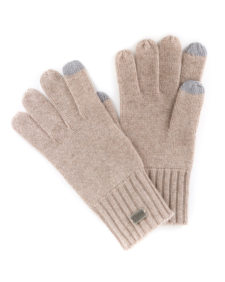 ribbed cashmere gloves