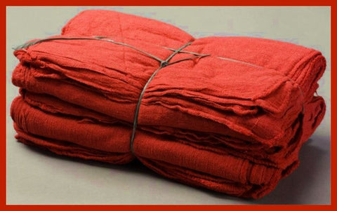 305 ($2.00 lb) NEW RED SHOP TOWELS MECHANIC WIPING RAGS OKLAHOMA