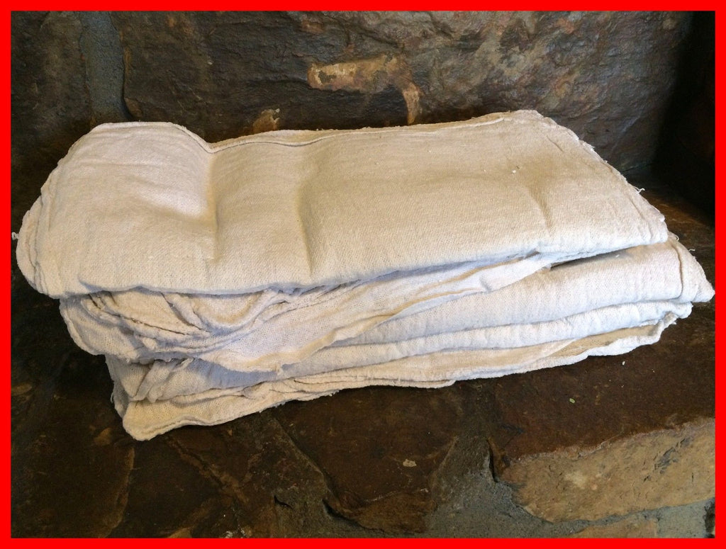 306 ($2.00 lb) NEW WHITE SHOP TOWELS MECHANIC WIPING RAGS OKLAHOMA