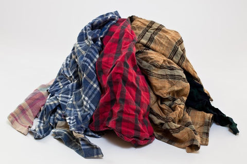 265 ($1.02 lb) FLANNEL SOFT COTTON WIPING RAGS OKLAHOMA WIPERS