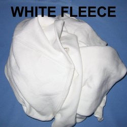 116 ($1.12 lb) WHITE FLEECE SWEATSHIRT WIPING RAGS