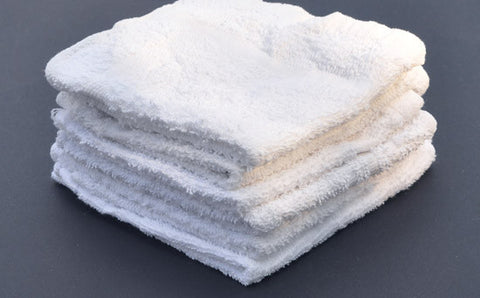 WWC ($1.95 lb) WHOLE WHITE WASH CLOTHS REUSABLE DAIRY WIPING RAGS