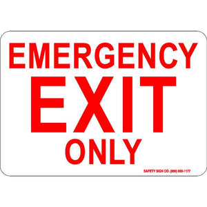 EMERGENCY EXIT ONLY (RED/WHITE)